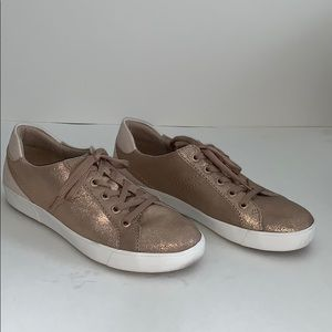 Naturalized Bronze Metallic Leather Sneakers